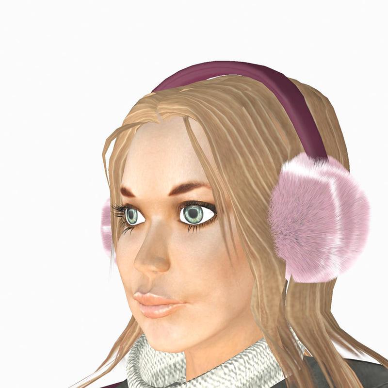 3d model girl lisa