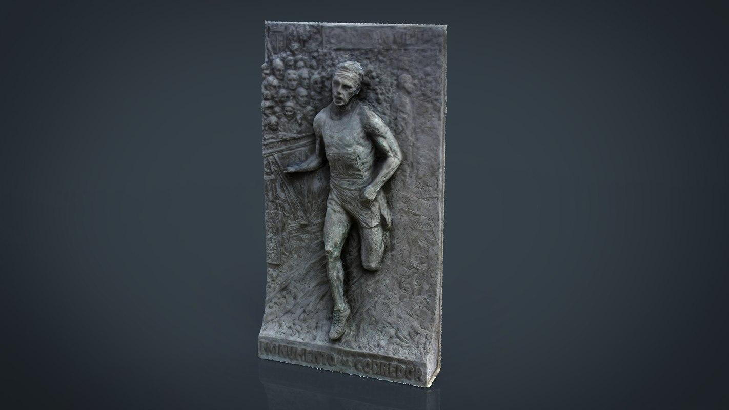 3d monument running man model
