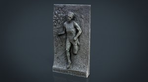 3d monument running man model