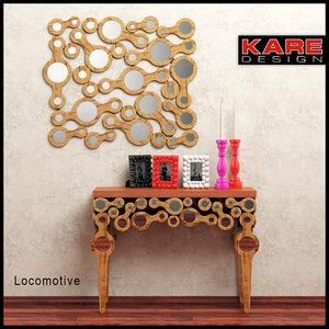 console mirror accessories kare 3d model