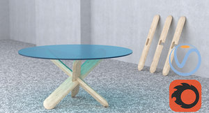 table wooden 3d model
