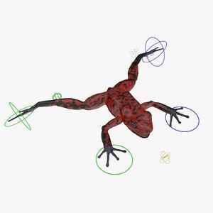 3d model poison dart frog red