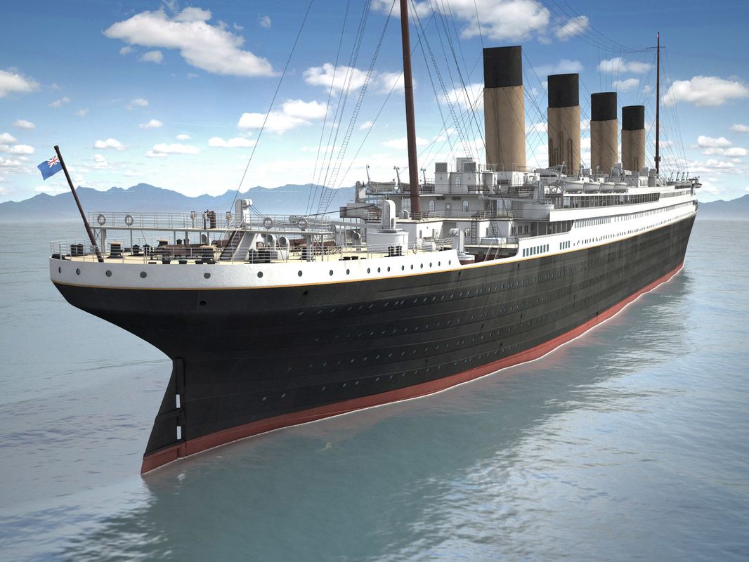 3d model of ship cruise rms