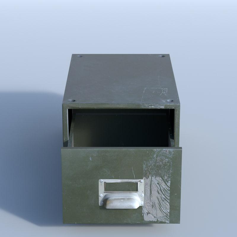 3d metal drawer