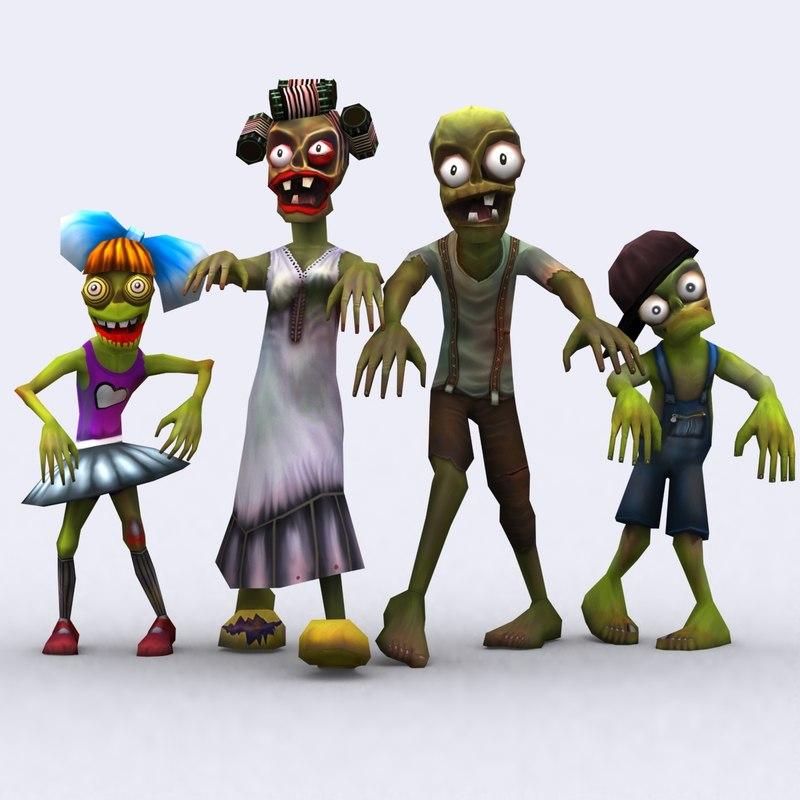 fantasy toonworld zombie family 3d 3ds