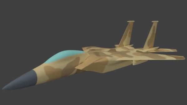 3d model f15 fighter