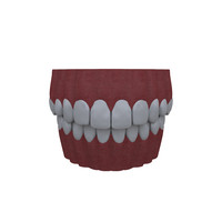 mouth teethes 3d model