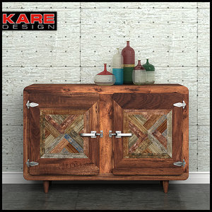 sideboard kare epoca 3d max