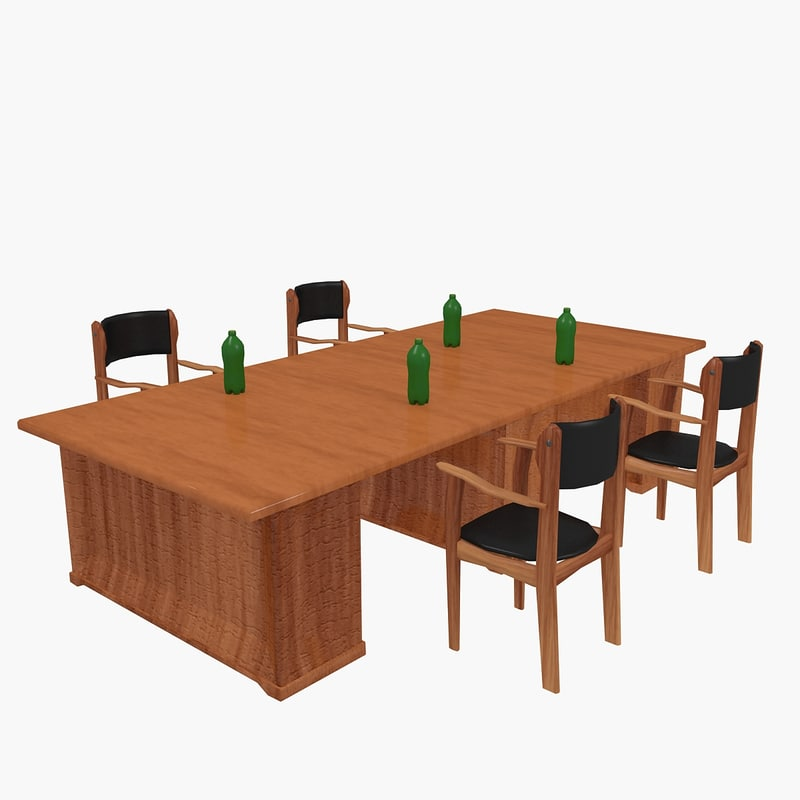 conference table chairs 3d max