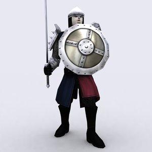 3d model of fantasy warriors construction kit