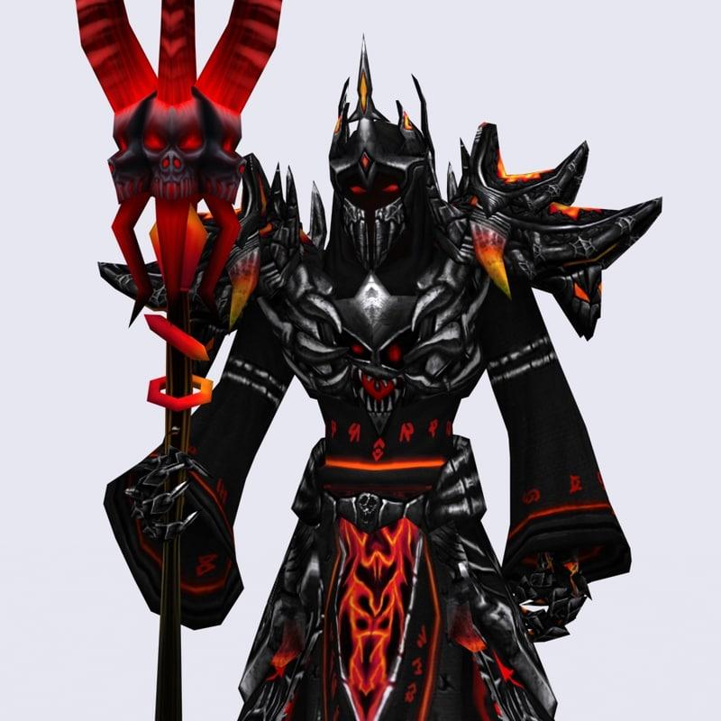 3d fantasy dark mages - model