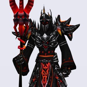 3d fantasy dark mages - model