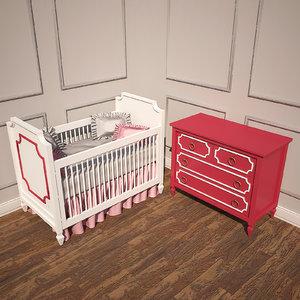 3d beverly crib dresser