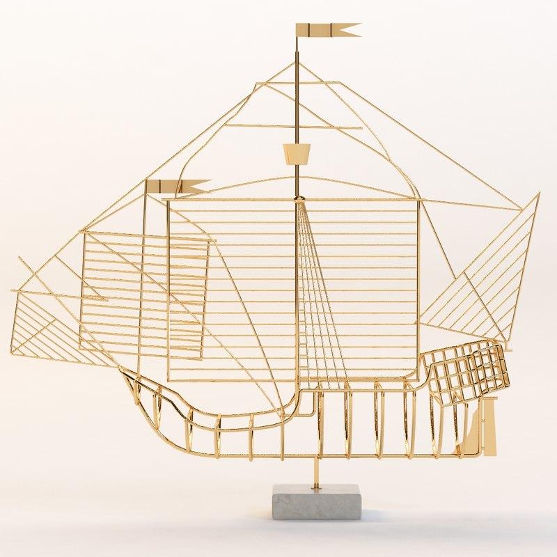 3d model of santa maria caravella