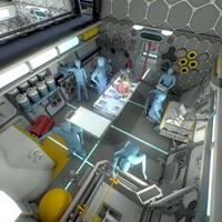 max sci-fi space station interior