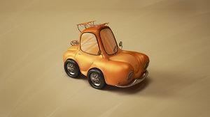 cartoon car 3d 3ds
