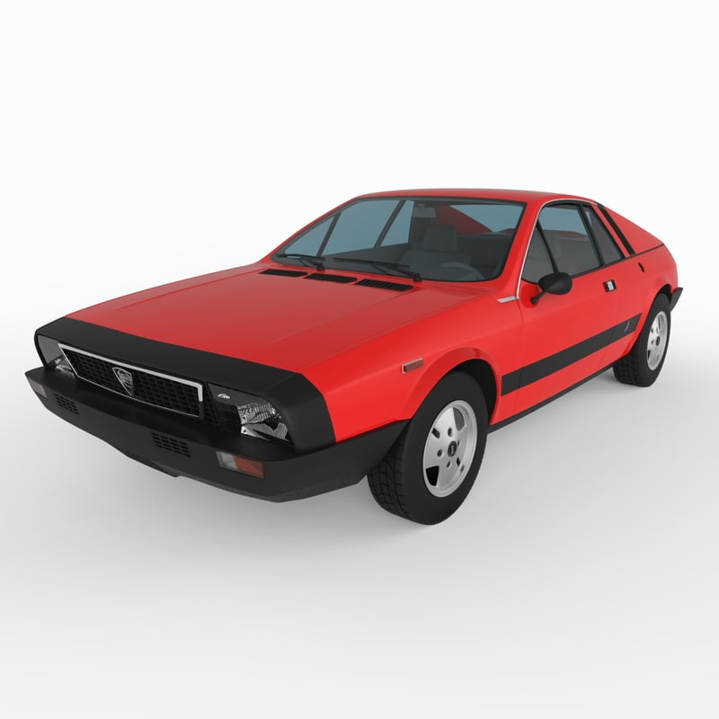 lancia beta montecarlo 1975 3d model