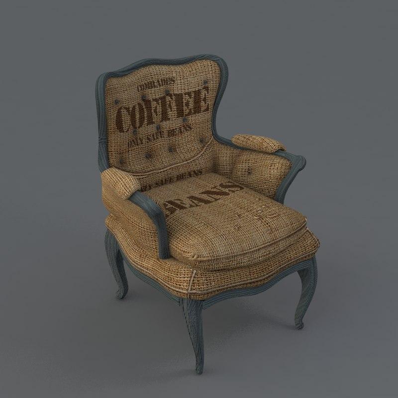 3d burlap chair