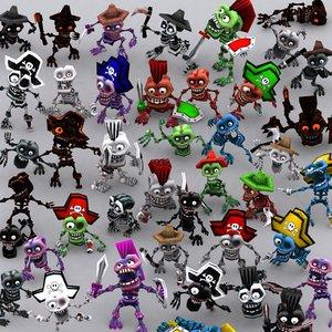 toonpets skeletons - 3d 3ds