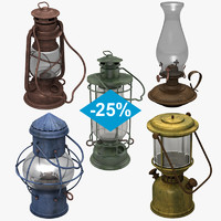 3d oil lamps