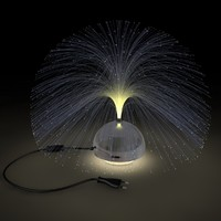 3d fiber lamp glas