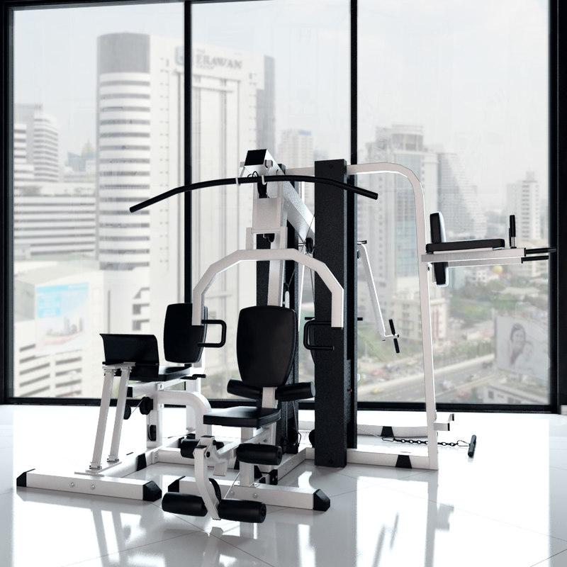 multistantsiya exercise machine 3d max