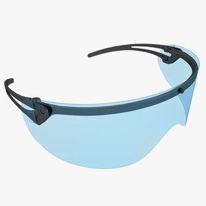 medical safety glasses 3d model