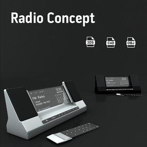c4d retro radio electron