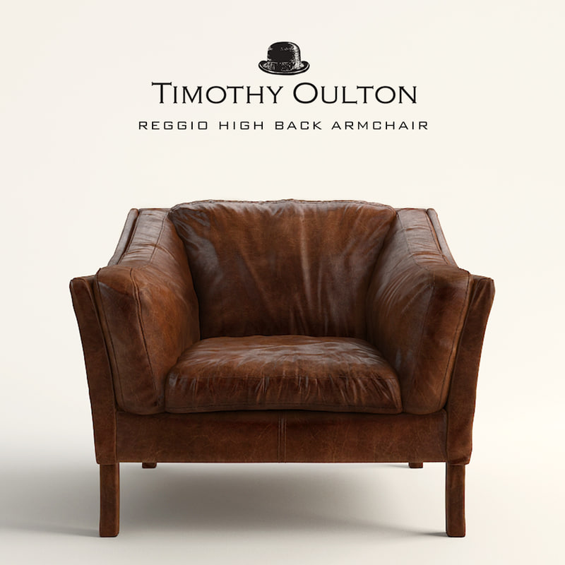 armchair timothy oulton reggio 3d max