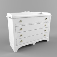 changing table 3d model