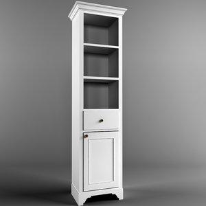 le bain bookcase 3d model