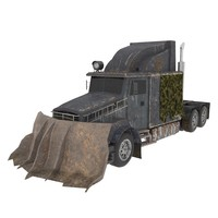 post-apocalyptic truck 3d model