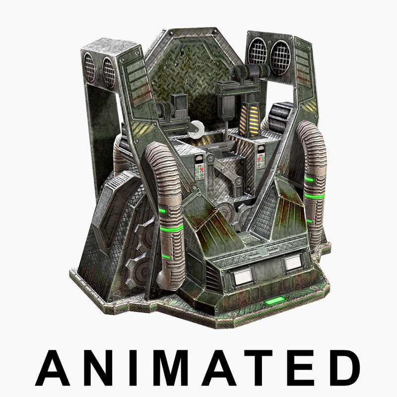 3d max low-poly craft machine