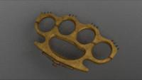 brass knuckles 3d obj
