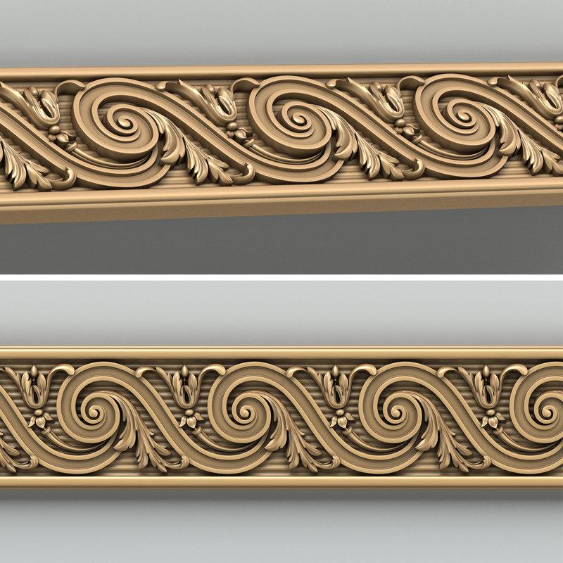 3d model decorative molding