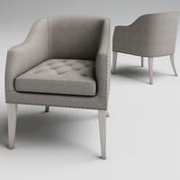 3d model ralf linen chair