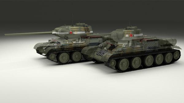 soviet 85 tank interiors obj