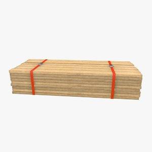 plank stack 3d model