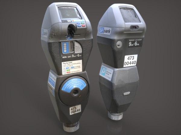 3d obj san francisco parking meter