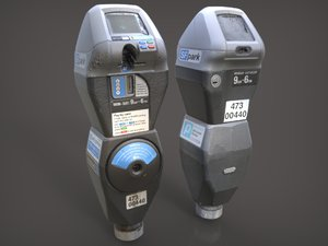 3d obj san francisco parking meter