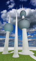 kuwait tower 3d model