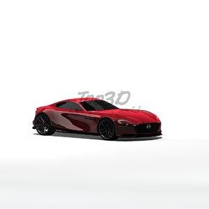 3d model mazda rx concept