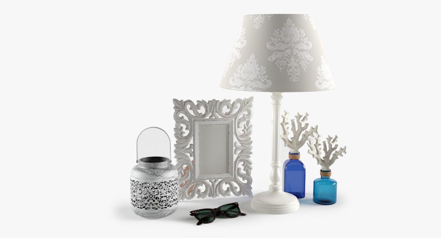 set lamp sunglasses decorative 3d model