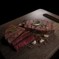 3d max tasty steak