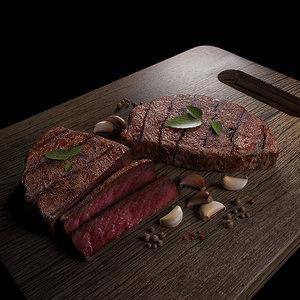 3d max tasty steak