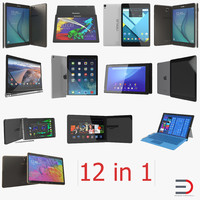 Tablets 3D Model Collection