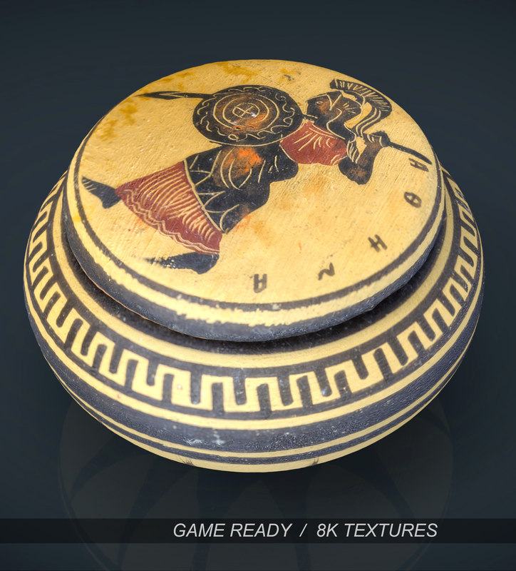3d model of greek vase