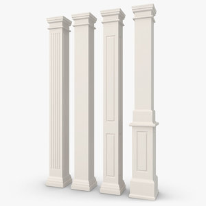 3d model column 08