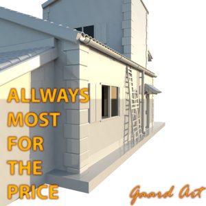 3d polygons house model