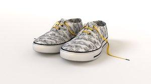 3d converses shoes model